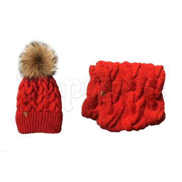 Комплект снуд + шапка MISS WOOLLY детский КРАСНЫЙ. Купить в интернет ... 235ddc183a418