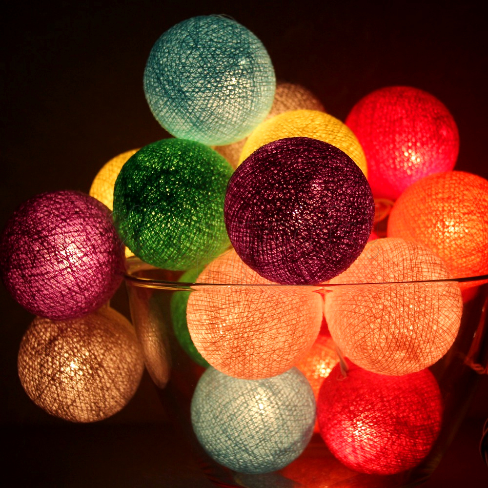 Гирлянда из тайских фонариков своими руками
