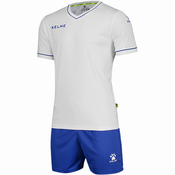 Комплект футбольной формы мужской  KELME SHORT SLEEVE SET FOOTBALL БЕЛЫЙ С СИНИМ