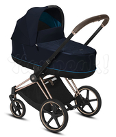 Коляска CYBEX PRIAM III NAUTICAL BLUE 2 В 1 на раме ROSEGOLD