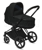 Коляска CYBEX PRIAM III DEEP BLACK 2 В 1 на раме MATT BLACK