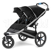 Коляска для двойни THULE URBAN GLIDE² DOUBLE JET BLACK