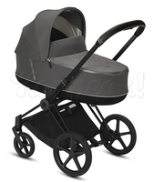 Коляска CYBEX PRIAM III SOHO GREY 2 В 1 на раме MATT BLACK