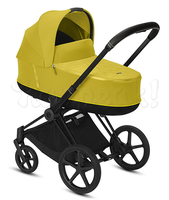 Коляска CYBEX PRIAM III MUSTARD YELLOW 2 В 1 на раме MATT BLACK