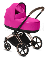 Коляска CYBEX PRIAM III FANCY PINK 2 В 1 на раме ROSEGOLD