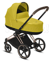 Коляска CYBEX PRIAM III MUSTARD YELLOW 2 В 1 на раме ROSEGOLD