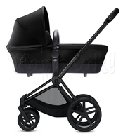 Коляска CYBEX PRIAM LIGHT HAPPY BLACK  2 В 1 на раме MATT BLACK
