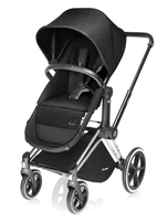 Коляска CYBEX PRIAM LIGHT HAPPY BLACK 2 В 1 на раме TREKKING