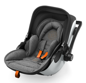 Автокресло KIDDY EVOLUNA I-SIZE 2 GREY MELANGE - SAFE ORANGE