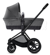 Коляска CYBEX PRIAM LIGHT MANHATTAN GREY  2 В 1 на раме MATT BLACK