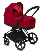 Коляска CYBEX PRIAM III TRUE RED 2 В 1 на раме MATT BLACK