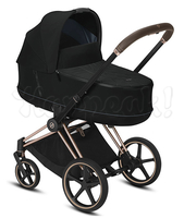 Коляска CYBEX PRIAM III DEEP BLACK 2 В 1 на раме ROSEGOLD