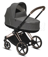 Коляска CYBEX PRIAM III SOHO GREY 2 В 1 на раме ROSEGOLD