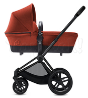 Коляска CYBEX PRIAM LIGHT AUTUMN GOLD  2 В 1 на раме MATT BLACK