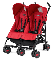 Коляска для двойни PEG-PEREGO PLIKO MINI TWIN GEO RED