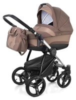Коляска ESSPERO NEWBORN LUX COFFEE 2 В 1 на шасси CHROME