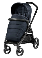 Коляска прогулочная PEG-PEREGO BOOK PLUS MATT BLACK POP-UP LUXE BLUENIGHT