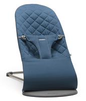 Кресло-шезлонг BABYBJORN BLISS COTTON MIDNIGHT BLUE