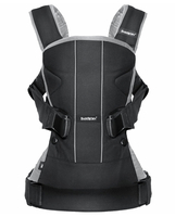 Рюкзак-кенгуру BABYBJORN ONE COTTON MIX BLACK GREY