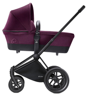 Коляска CYBEX PRIAM LUX MYSTIC PINK 2 В 1 на раме ALL TERRAIN MATT BLACK