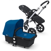 Коляска BUGABOO CAMELEON 3 BLACK ROYAL BLUE 2 В 1 на шасси SILVER