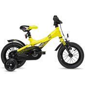Велосипед SCOOL XXLITE 12 YELLOW - BLACK MATT