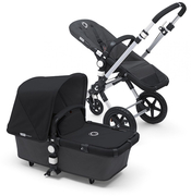 Коляска BUGABOO CAMELEON 3 DARK GREY BLACK 2 В 1 на шасси SILVER
