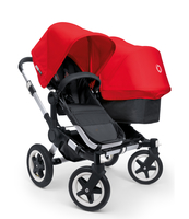 Коляска BUGABOO DONKEY DUO BLACK RED на шасси SILVER