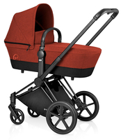 Коляска CYBEX PRIAM LUX AUTUMN GOLD 2017 2 В 1 на раме TREKKING MATT BLACK