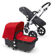 Коляска BUGABOO CAMELEON 3 DARK GREY RED 2 В 1 на шасси SILVER