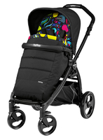 Коляска прогулочная PEG-PEREGO BOOK PLUS MATT BLACK POP-UP MANRI