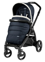 Коляска прогулочная PEG-PEREGO BOOK PLUS MATT BLACK POP-UP LUXE BLUE