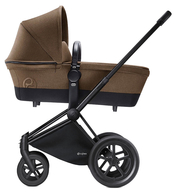 Коляска CYBEX PRIAM LUX CASHMERE BEIGE 2 В 1 на раме ALL TERRAIN MATT BLACK
