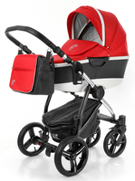 Коляска ESSPERO NEWBORN LUX 2016 ALU RED 2 В 1 на шасси CHROME