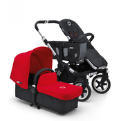 Коляска BUGABOO DONKEY MONO BLACK RED 2 В 1 на шасси SILVER