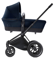 Коляска CYBEX PRIAM LUX MIDNIGHT BLUE 2 В 1 на раме ALL TERRAIN MATT BLACK