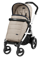 Коляска прогулочная PEG-PEREGO BOOK PLUS 51 S WHITE POP-UP LUXE BEIGE
