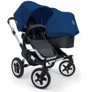 Коляска BUGABOO DONKEY DUO BLACK ROYAL BLUE на шасси SILVER