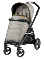 Коляска прогулочная PEG-PEREGO BOOK PLUS MATT BLACK POP-UP LUXE GREY