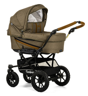 Коляска EMMALJUNGA EDGE DUO COMBI OUTDOOR OLIVE на шасси DUO S OUTDOOR 2 В 1