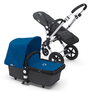 Коляска BUGABOO CAMELEON 3 DARK GREY ROYAL BLUE 2 В 1 на шасси SILVER