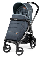 Коляска прогулочная PEG-PEREGO BOOK PLUS GREY POP-UP BLUE DENIM