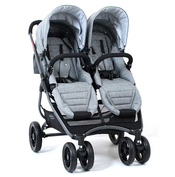Коляска для двойни VALCO BABY SNAP 4 ULTRA DUO TAILORMADE GREY MARLE