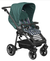 Коляска TEUTONIA BLISS GRAPHITE 6130-6180 JADE-HIVE 2 В 1