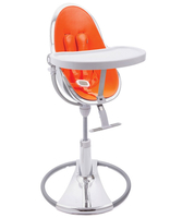 Стул для кормления BLOOM FRESCO CHROME SILVER ORANGE SE