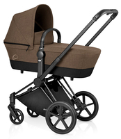 Коляска CYBEX PRIAM LUX CASHMERE BEIGE 2 В 1 на раме TREKKING MATT BLACK