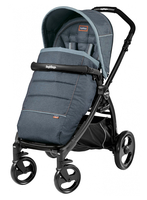 Коляска прогулочная PEG-PEREGO BOOK PLUS MATT BLACK POP-UP BLUE DENIM