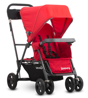 Коляска для погодок JOOVY CABOOSE ULTRALIGHT RED на раме GRAPHITE