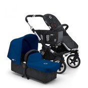 Коляска BUGABOO DONKEY MONO BLACK ROYAL BLUE 2 В 1 на шасси SILVER