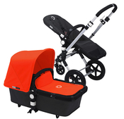 Коляска BUGABOO CAMELEON 3 BLACK ORANGE 2 В 1 на шасси SILVER